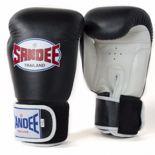 Sandee Authentic Boxing Gloves - Black/White